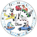Personalised Animal transport Clock