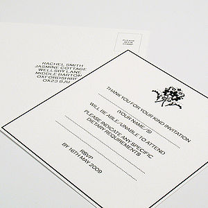 Winslet Reply Cards - wedding stationery