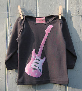 Baby Long Sleeve Guitar Top