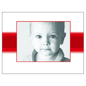 24 Personalised Christmas Cards: Stripe - cards & wrap