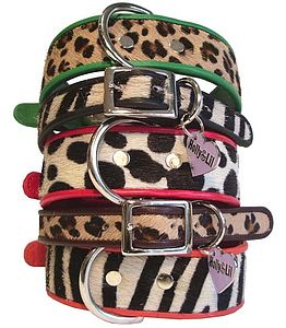 Zebra, Leopard, Spot  Slim or Wide Collars - dog collars