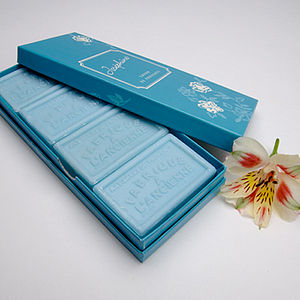 Box of Savon de Marseille Soaps - bathroom