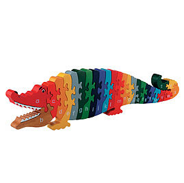 Jigsaw LARGE Wooden Crocodile A-Z - traditional toys & games