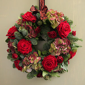 We Love Hydrangeas Wreath - flowers & plants