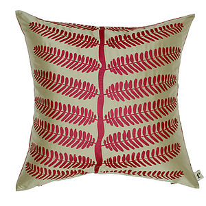 Silk Fern Stem Cushion - cushions
