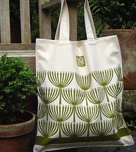 Seed Heads cotton canvas bag