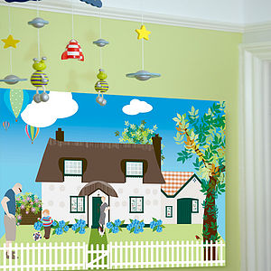 Bespoke Canvas - Arthur's House - children's pictures & paintings