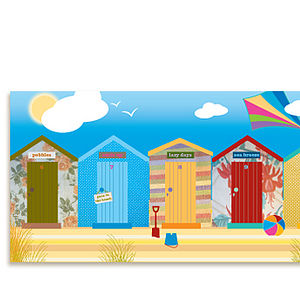 Canvas - Beach Huts - paintings & canvases