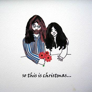 John and Yoko card - Pack of 4