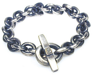 Handmade Silver T-bar Bracelet - men's jewellery