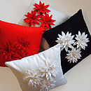 Felt Flower Lily Cushion