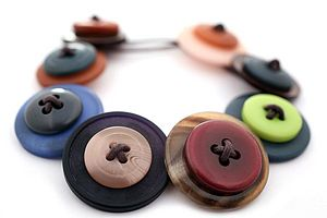 Retro Button Bracelet - women's jewellery