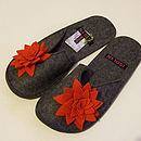 Red Suzie slipper