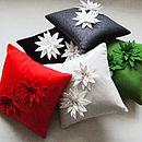 Lily Felt Flower Cushion
