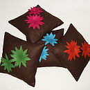 Brown Lily Cushions