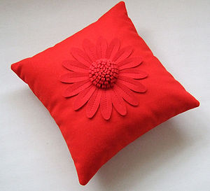 Big Daisy Cushions - bedroom