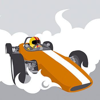 RACING CAR CANVAS