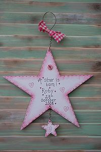 Handmade 'Star Is Born' Sign
