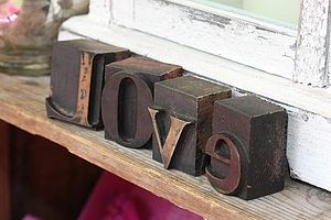 Vintage Printers Love Letters - room decorations