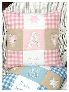 Alphabet Cushion - personalised cushions