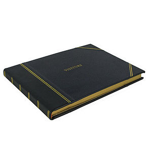Traditional Personalised Visitors Book - personalised