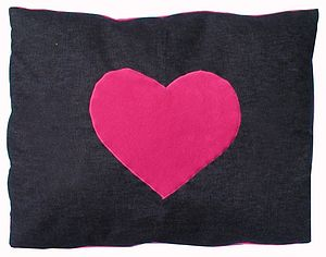 Heart Design Dog Doza Bed Cushion - beds & sleeping