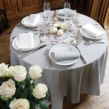 Ardoise Organic Table Cloth