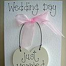 wedding keepsake card