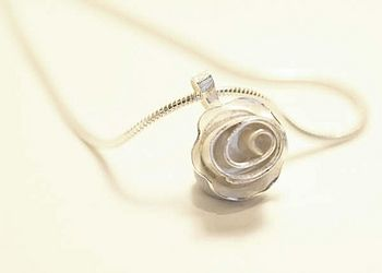 Silver Rose Frill Necklace