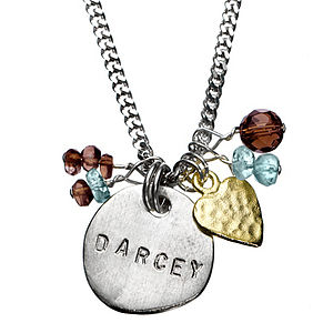 Personalised Darcey Classic Necklace - charm jewellery