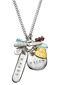 Personalised Harry Classic Necklace - charm jewellery