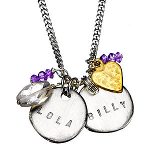 Personalised Billy Classic Necklace - charm jewellery