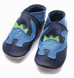 Soft Leather Baby Shoes Dino - footwear