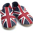 Soft Leather Baby Shoes Union Jack