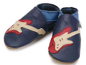 Soft Leather Baby Shoes Guitar - footwear