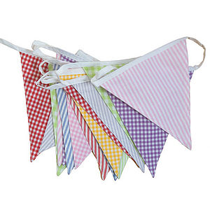 English Country Bunting - outdoor decorations