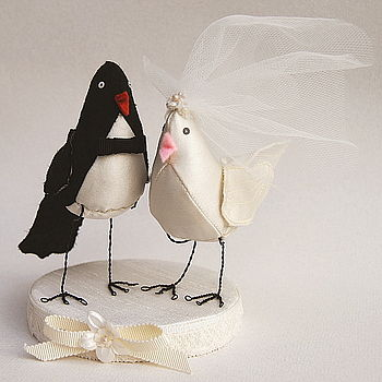 Lovebird wedding cake topper