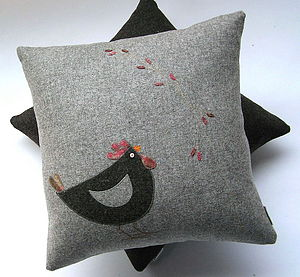 Cluck and food cushion - bedroom