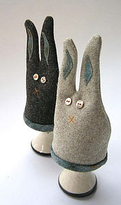 Highland hare egg cosy (pair) - egg cosies