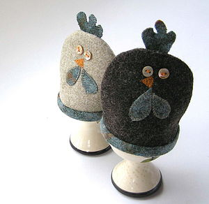 Clucky hen egg cosy (pair) - egg cups & cosies