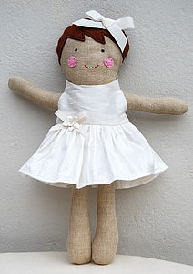 Personalised Handmade Flowergirl Doll - to say thank you