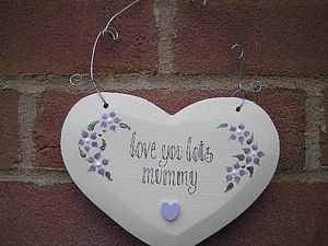 Personalised Heart For Mothers - hanging decorations