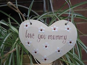 Wooden Message Heart - gifts for children to give