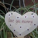 Wooden Message Heart