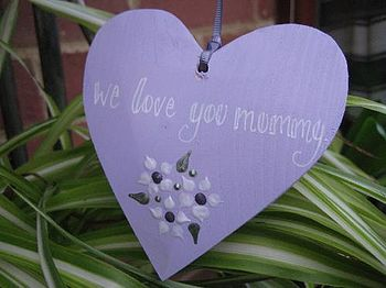 Mother's Day Heart on Ribbon