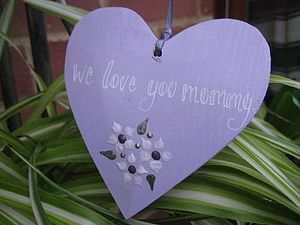 Wooden Heart on Ribbon - keepsakes