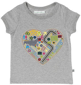Digital Love Organic Cap Sleeve T-shirt - girl's t-shirts
