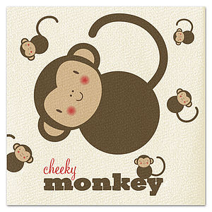 Cheeky Monkey Card - birthday cards