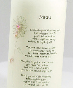 Personalised Gift For A Special Mum - candles