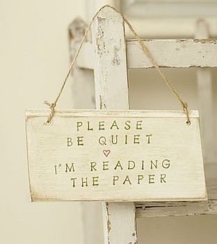 Please Be Quiet - The Paper